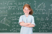 Young girl in class — Stockfoto