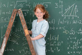 Beautiful highly intelligent little girl — Stock Photo
