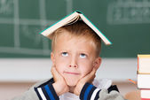 Little boy hoping to absorb knowledge — Stock Photo