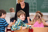 Boy in class smile at  camera — Stockfoto