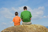From father to son - the big talk concept — Stock Photo