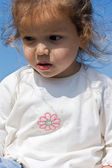 Little girl looking down — Stock Photo