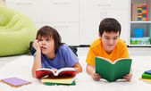 Little boys reading — Stock Photo