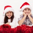 Christmas kids smiling — Stock Photo