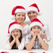 Stock Photo: Christmas family together