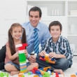 Father with his children — Stock Photo #28028525