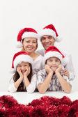 Christmas family together — Stock Photo