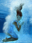 Underwater fashion — Foto Stock