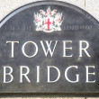 Stock Photo: Plate with inscription:Tower Bridge.