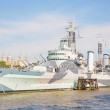 The HMS Belfast. — Stock Photo