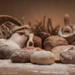 Loaves of bread and rolls — Stock Photo