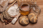Country theme with baking goods — Stock Photo