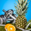 Fitness theme with fruits and vegetables — Foto Stock #25790627