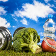 Stock Photo: Fitness stuff with vivid colors
