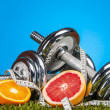 Stock Photo: Health and fitness composition