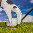 Golf theme with sport stuff — Stock Photo