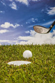 Equipment of golf game — Stock Photo