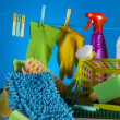 Washing concept on light background — Stock Photo