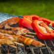 Stock Photo: Barbecue saturated composition