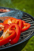Grilling theme with barbecue stuff — Stock Photo