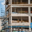 Concrete edifice in construction site, sunny day — Stock Photo