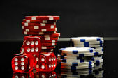 Black theme, casino, gambling — Stock Photo