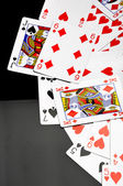 Composition of casino stuff with dark background — Stock Photo