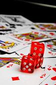 Elegant casino theme with dark background — Stock Photo