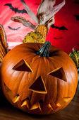 страшные тыквы, хэллоуин концепции — Стоковое фото