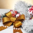 Christmas theme with Christmas decorations — Stock Photo