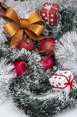 Weihnachtsthema auf weißem hintergrund — Stockfoto