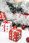 Christmas theme, light background — Stock Photo