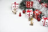 Christmas theme, light background — Stock Photo