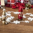 Stock Photo: Winter decorations with Christmas stuff