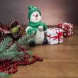 Christmas stuff, winter decorations — Stock Photo