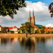 Stock Photo: Beautiful sunny day in Wroclaw