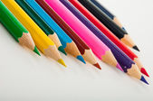 Vivid concept with wooden pencils — Stock Photo