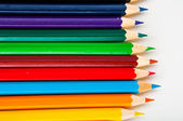 Vivid composition of color pencils — Stock Photo