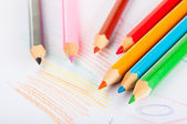 Isolated color pencils, vivid composition — Stock Photo
