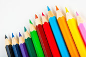 Colorful vivid pencils on white background — Stock Photo