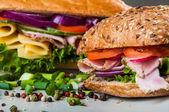 Organic, healthy food, sandwich — Foto de Stock