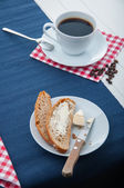 Organic breakfast with natural food — Stock Photo