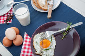 Morning concept with breakfast, natural theme — Stock Photo