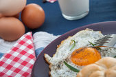 Soft light theme of breakfast with egg — Stock Photo