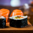 Stock Photo: Oriental theme with sushi