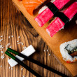 Stock Photo: Japanese lunch, fresh sushi set