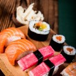 Stock Photo: Japanese seafood, sushi set