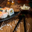 Stock Photo: Japanese tasty sushi set