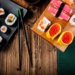 Tasty, fresh and healthy sushi set — Stock Photo #40394451
