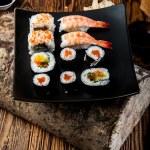 Tasty, fresh and healthy sushi set — Stock Photo #40394677